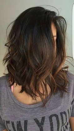 40 Trendy Brown Hair Color Ideas You Can Try brown hair colors, brown hair with. - 40 Trendy Brown Hair Color Ideas You Can Try brown hair colors, brown hair with caramel highlights - Medium Hair Cuts, Medium Hair Styles, Curly Hair Styles, Short Brunette Hairstyles, Medium Haircuts For Women, Long Bob Hairstyles For Thick Hair, Medium Layered Haircuts, Medium Cut, Trendy Haircuts