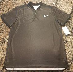800a42bb3 Nike Court NikeCourt Advantage Polo Black 854605-010 Men's L Tennis RARE  $100