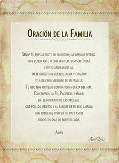 α JESUS NUESTRO SALVADOR Ω: ORACION DE LA FAMILIA, Señor Tú eres nuestra luz y...