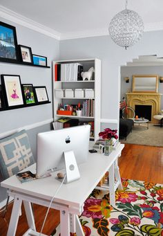 Bright and colorful home office