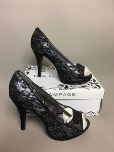 17 Women Lady Lace Up Block Platform Pump High Heel Vintage Plus Size Shoes G558