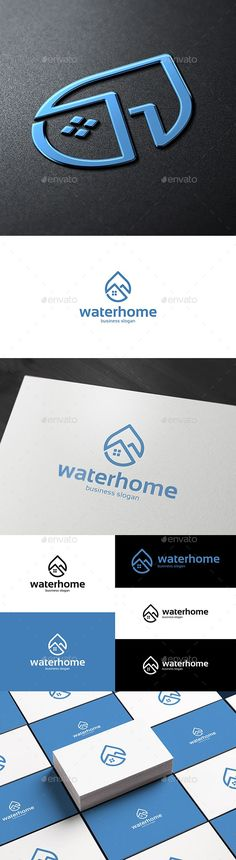 Buy Water Home Drop Logo by djjeep on GraphicRiver. Water Drop and House / Home Logo Template. Creative Home Construction Concept Logo Design Template. Logo for home wat. Water Drop Logo, Water Logo, Logo Design Template, Logo Templates, Cheap Logo, Business Slogans, Building Logo, Logo Branding, Logos