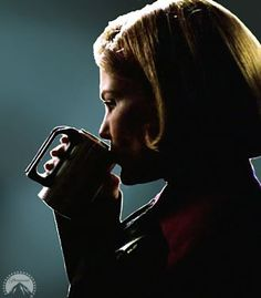 "I love this picture for more than it being Captain Kathryn Janeway and her coffee, ""Black."" The lighting in this shot is amazing and captures Kate Mulgrew's most gorgeous features."