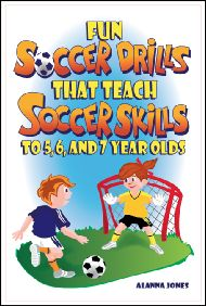 Site shows samples online of ideas in the book - there are some good drills shown that have worked for us in the past. #soccerdrillsforkids