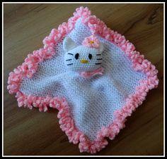 Fanny Colorful World: Crochet Hello Kitty Kuscheltuch. FREE PATTERN 5/14.