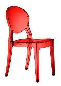 Nawiązująca do barku forma krzesła doskonale komponuje się zarówno z nowoczesnymi stołami, jak z widocznym na zdjęciu stołem Metropolis jak również ze tradycyjnymi a nawet stylowymi stołami drewnianymi. Wykonane z najlepszego rodzaju tworzywa, certyfikowanego akrylu Makrolon krzesło Igloo dostępne jest w zupełnie przeźroczystym akrylu, w akrylu barwionym w masie ale przeziernym oraz w akrylu nieprzeziernym z połyskiem.