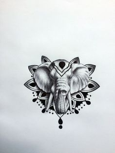 elephant head tattoo drawing