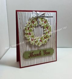 Stampin' Fun with Diana, 30-Day Gratitude Card Challenge, Wonderous Wreath, Lots of Thanks, Big Shot, Framelits, Project Life, Stampin' Up, Diana Eichfeld