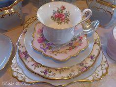 Rabbit & Rose, looks like a Royal Albert shape, I love the colour & flower combo.....