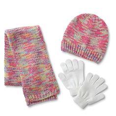 Girls Children Kids Winter Autumn Gloves ABS Print Grey Pink Size 4-10 Years