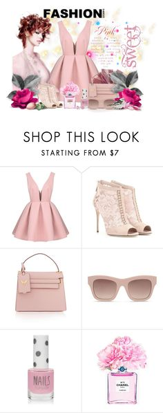 """Colours of 2016! #1- ROSE QUARTZ"" by slynne-messer ❤ liked on Polyvore featuring Dolce&Gabbana, Valentino, STELLA McCARTNEY, Topshop, Chanel and Bling Jewelry"