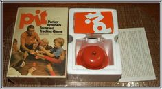 old card games Pit | 1973 PIT CARD GAME WITH ORANGE BELL by PARKER BROTHERS COMPLETE