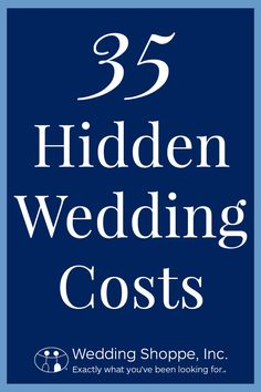 What are the 35 hidden wedding costs we always miss?