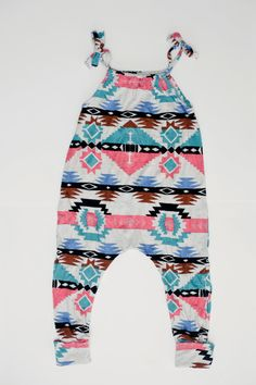 Size 612m Multi Color Tribal Romper by duchessandlion on Etsy