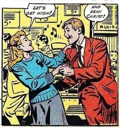 Find images and videos about retro, high and comic on We Heart It - the app to get lost in what you love. Old Comics, Comics Girls, Vintage Comics, Funny Comics, Funny Vintage, Vintage Stuff, Comic Books Art, Comic Art, Book Art