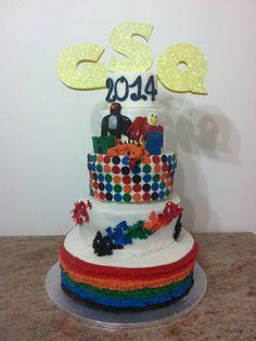 """Rainbow cake"", GsQ giochi senza frontiere, ruffles, butterfly flight, pois , Aquila Falcone drago castello torre"