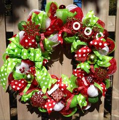 Christmas wreath mesh Christmas wreath Christmas by WandNDesigns