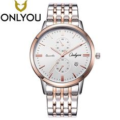 >> Click to Buy << ONLYOU Lovers Watches Top Brand Luxury Waterproof Stainless Steel Men Women Watch Fashion Quartz Clock Wholesale #Affiliate