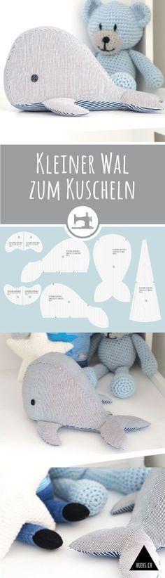 Stuffed whale sewing pattern