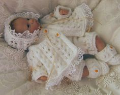 Baby Knitting Patterns and Reborn Dolls Knitting Patterns. (Precious Newborn Knits Ref: You are NOT purchasing the knitted clothes or the reborn doll . Daisy'- Dolls knitting pattern designed especially for the Ashton Drake Dolls and Reborns. Baby Knitting Patterns, Baby Patterns, Doll Patterns, Crochet Patterns, Clothing Patterns, Sewing Patterns, Baby Girls, Crochet Baby, Knit Crochet