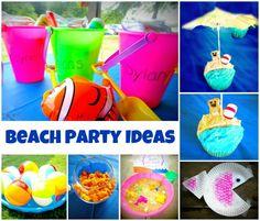 Lots of FUN beach Party Ideas!