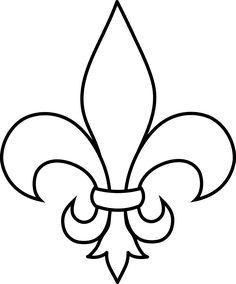 frrench free clip art black and white fleur de lis outline free rh pinterest com free downloadable fleur de lis clip art free fleur de lis pattern clipart