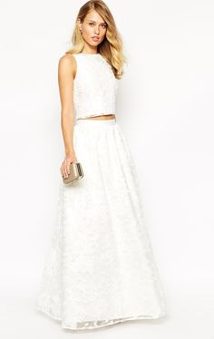 Jarlo Paloma Full Floral Lace Maxi Skirt $220 NZD + Alexandra Lace Crop Top $116 NZD