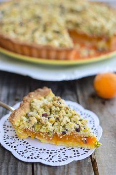 crostata albicocche, crumble, dolci da dispensa, ricetta crostata,