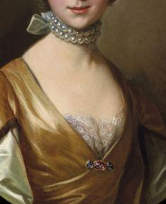 Portrait of a Elegant Young Lady by Louis- Michel van Loo