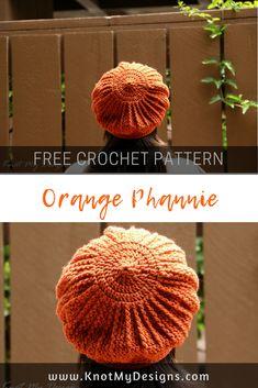Free Crochet Pattern - Hat / Beanie - Orange Phannie / Beret