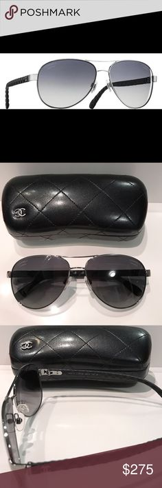 9a0ca31530 Chanel Quilted Aviator Sunglasses