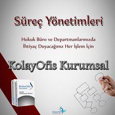 KolayOfis Kurumsal Hukuk Otomasyon Sistemi ile Hukuk Büro ve Departmanlarınızda Süreç Yönetimi Sorun Olmaktan Çıkıyor. http://www.microdestek.com.tr/surec-yonetimi.html