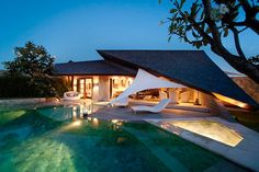 This spectacular design-led villa resort is located in the heart of chic Seminyak, moments from Bali's best restaurants, boutiques and sunset beach bars. Cutting-edge contemporary architecture and ultra-chic interiors characterize the 23 villas, which offer stunning living spaces sculpted by the architects' signature sloping roofs. http://www.xpbali.com/property-listings/bali-investment-opportunity/