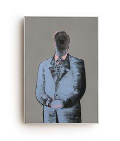 Mr. Barry - Oil on Canvas 100x70 cm Piergiorgio Del Ben//Peter Of Good, Visual Artist, Painter.