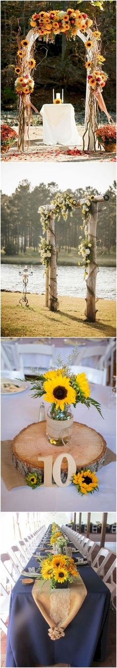 Country rustic sunflower wedding theme ideas (7)