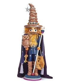 Look what I found on #zulily! Wizard With Owl Nutcracker by Hollywood #zulilyfinds