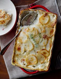 Bacon Potatoes au Gratin.  This means bacon, potatoes and cheese.  Pant, pant. @whiteonrice