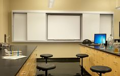 Columbia College Brouder Science Center lab - Anheuser Busch Hall - classroom - designed by Spellman Brady & Company Interior Design