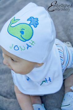 Jonah and The Whale Hat by GetEmbellished on Etsy, $10.00