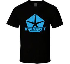 sport car Valiant Chrysler logo gray black white men\'s T-shirt free shipping #fashion #clothing #shoes #accessories
