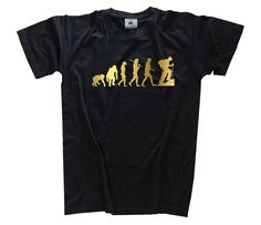 GOLD Edition Trekking Hiking Mountain climber Evolution T-Shirt S-XXXL  Taller Mecanico fdf996536