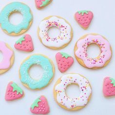 Strawberry and donut