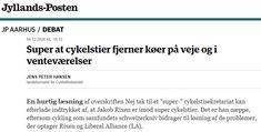 Et svar på et indlæg fra LA regionsmedlem Jakob Rixen, der stemte imod at Region Midt støtter et sekretariat for supercykelstier i Østjylland Aarhus, Politics