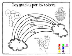 Giving Thanks (Doy Gracias) Coloring Page - Printable Spanish Vocabulary Coloring Pages