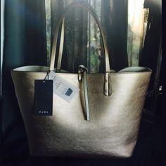 Zara Zara Reversible Metallic Tote Zara Bags Totes