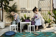 Pentru micii grădinari, avem o masă specială: UTTER.