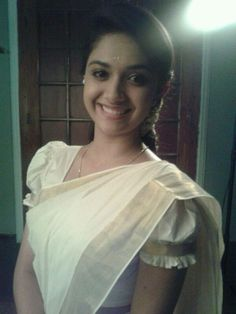 Keerthi Suresh in Kerala Traditional Saree