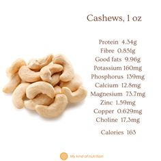 Nuts and seeds are very healthy, despite their calories. Eat a handful of nuts and seeds for a nutritious, satiating snack that won't spike your blood sugar levels. Eat unsalted, raw or lightly roasted nuts for best results. #cashews #cashews nutrition #nutsandseeds #healthysnack #superfood #lowcalorie #nuts Can I Eat, Roasted Nuts, Holistic Nutritionist, Unprocessed Food, Plant Based Protein, Good Fats, Base Foods, Blood Sugar, Plant Based Recipes