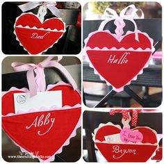 felt valentine holders - need to figure out a way to make these no-sew