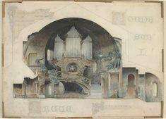 Intérieurs d'artiste : coupe sur l'orgue Garas François (1866-vers 1925) Paris, musée d'OrsayRéunion des Musées Nationaux-Grand Palais -